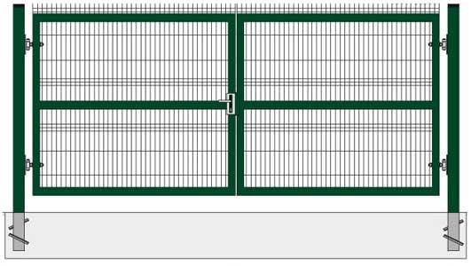 Ворота распашные металлические с калиткой 3 0 х 3 0 цена ворота инсталляция